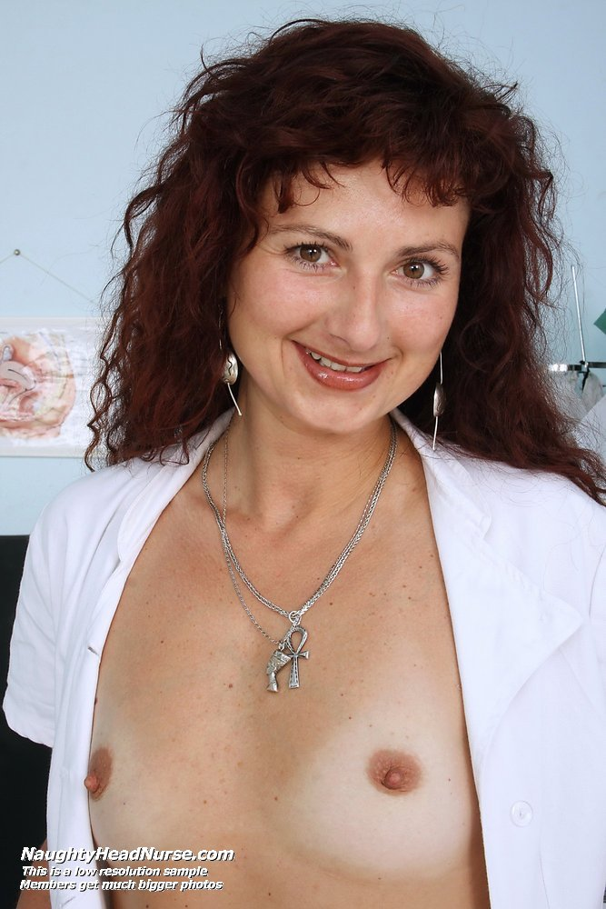 Radoslava mature nurse fetish uniform masturbation