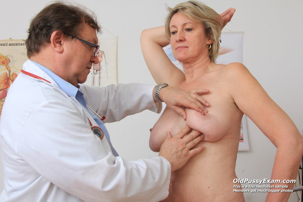 Ester gets her mature twat examined in addition to a gyn-tool during a ...
